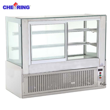 Low price china refrigerated cake display cases for Supermarket Multideck Showcase