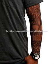 92% nylon and 8% spandex multi colors customized logo fake tattoo sleeves