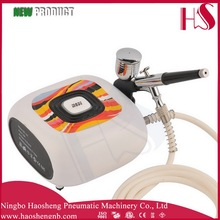 HS08-6AC-SK mini oil free air compressor model airbrush