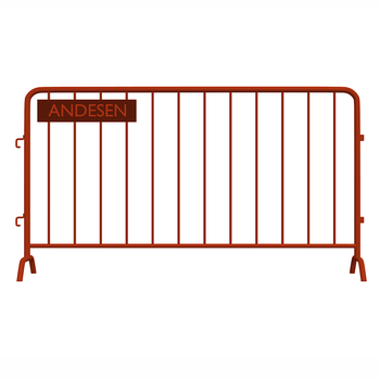 Steel Crowd Control Barrier with Removable Feet Bridge Type Flat type Detached type