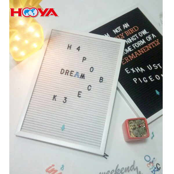 Cost-effective Vintage Felt Changeable Letter Board 11 by 16 Inches Frame with 145 Inch Customized Color Letters