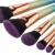 hot selling synthetic hair colorful body&face painting bulk makeup brushes set
