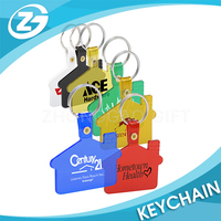 Custom Logo Printing Cheap Promotional Plastic House Shaped Colored Acrylic Key Chains