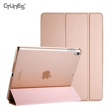 For iPad Pro 10.5 Case 2017,Ultra Slim Lightweight Stand Smart Book Shell Translucent Back Cover For Apple iPad Pro 10.5 Inch