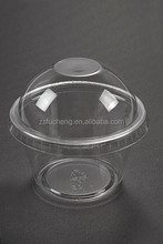 4oz OEM disposable glass ice cream frozen plastic PET cup with dome lip
