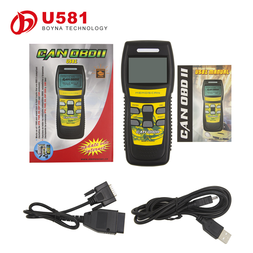 New OBD SCANNER U581 LIVE DATA OBD2 EOBD Can-Bus Code Reader with high quality