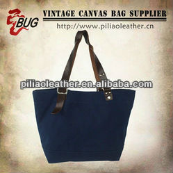 BUG fashion cotton vintage denim canvas shopping tote bag handbag manufacture wholesale