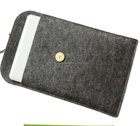 Protective design polyester felt laptop sleeve,laptop bag for IPAD laptop