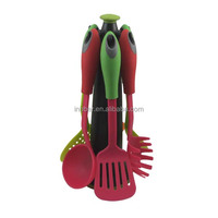 (SN336)Professional colorful 7pcs kitchen utensil set stainless steel