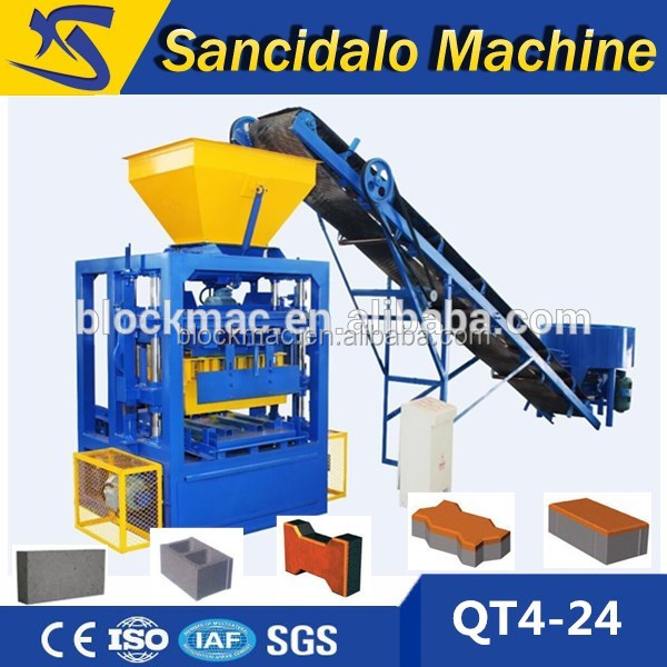 Block making machine price list QT4-24 hollow block machine in cebu city philippines