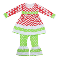 Girls smocked ruffle pants outfits summer teen girl clothing set bell bottom pants chevron fabric baby set clothing carters