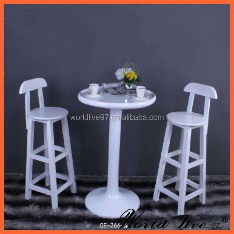 CE-266-W Modern Resin Bar Table/ Resin Table Decoration