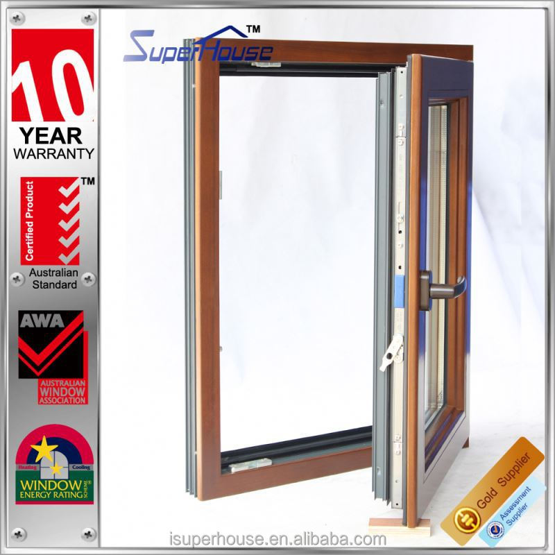 2015 new designed tilt and turn wood door design window with double glass