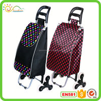 Fold up luggage cart 3 wheels airport hand trolleys