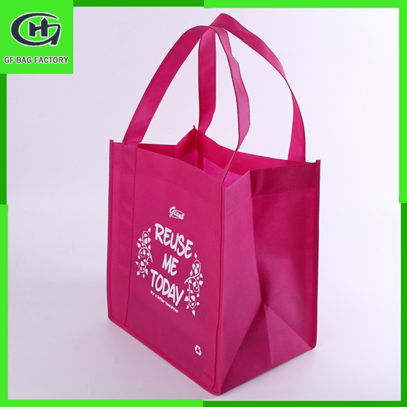 eco-friendly promotional pp nonwoven bag shopping tote non-woven Logo printed recyclable gift non woven bag