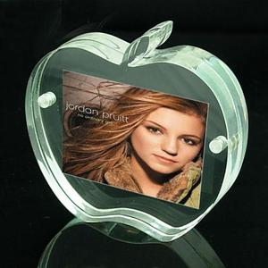 Apple shape acrylic photo frame display