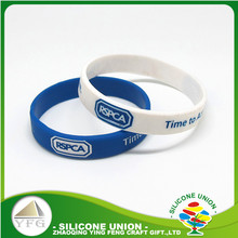 ink filled debossed custom silicone wristband