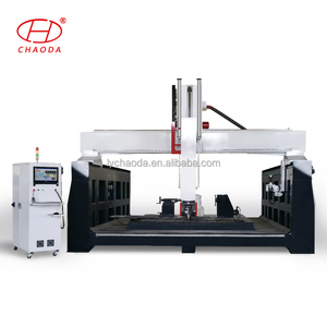 5 axis cnc spindle machine with Italy 12kw vem / marble cnc router