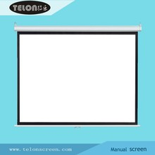 TELON Manual wall projection screen projector screen with self-lock & square casing / housing