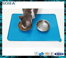 Vintage pet feeding mat silicone food placemat for dog or cat
