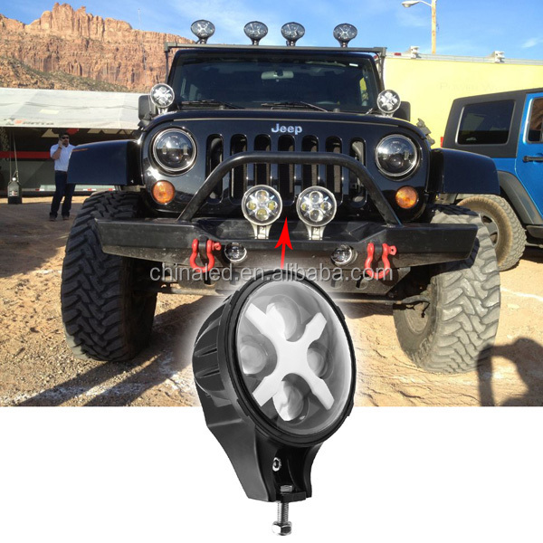 6'' led headlight with C REE led chip, Jeep auto accessories part 12v headlights offroad light, projector light for Jeep