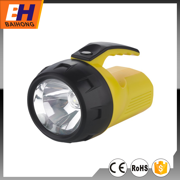 Hot Sell 1W LED Yellow Camping Lantern Powered by 4xAA Batteries Portable and Easy Keeping