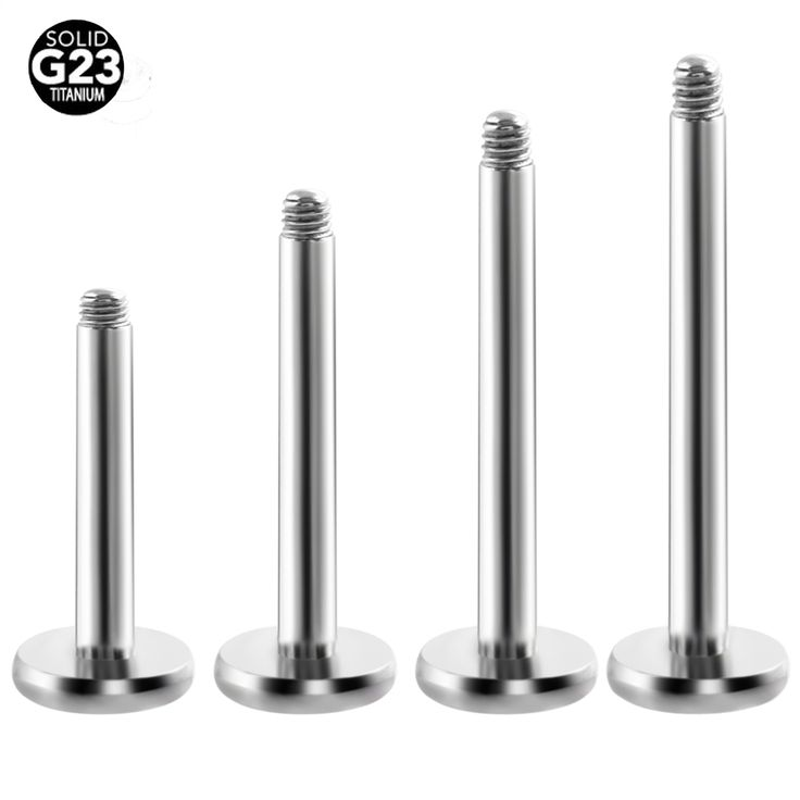 G23 titanium 16 gauge labrets lip basic piercing jewelry
