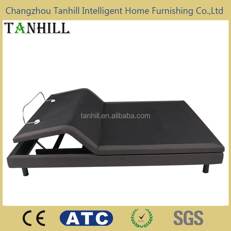 2 motors mechanism parts for electric adjustable bed with massage