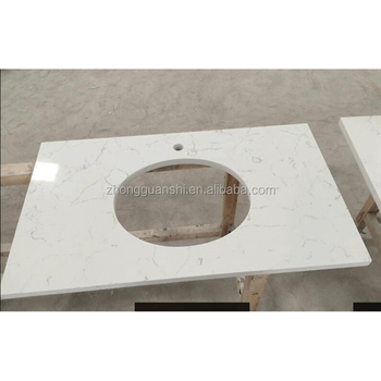 Lowest One Piece Bathroom Sink and Quartz Countertop