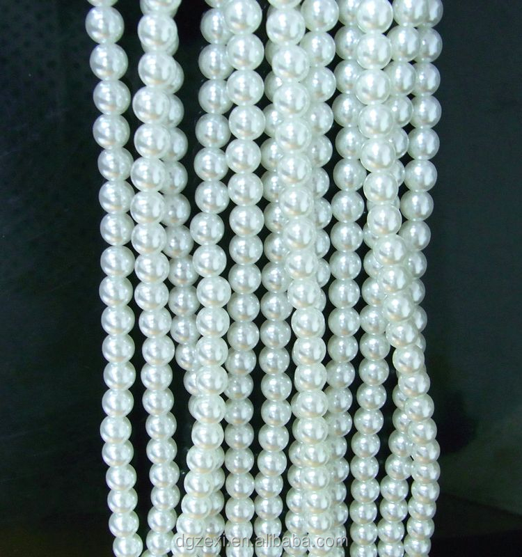ABS Plastic Pearl, Glass Beads, Shell Pearl String White Color For Decorating Wedding Chair