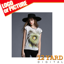 New Vintage Causual Fashion Summer Women Short Sleeve 3 D Print T Shirt