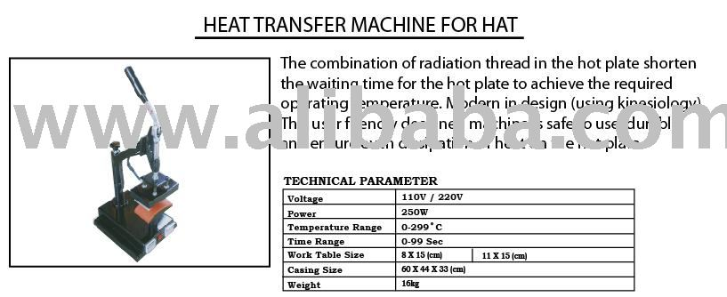 Heat Transfer Machine for Hat