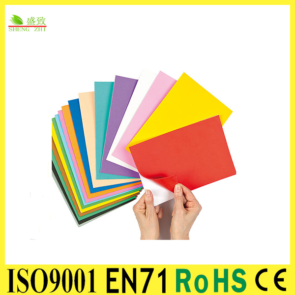 According to FDA/GRAS self adhesive sticker paper PE Foam sheet for kids craft