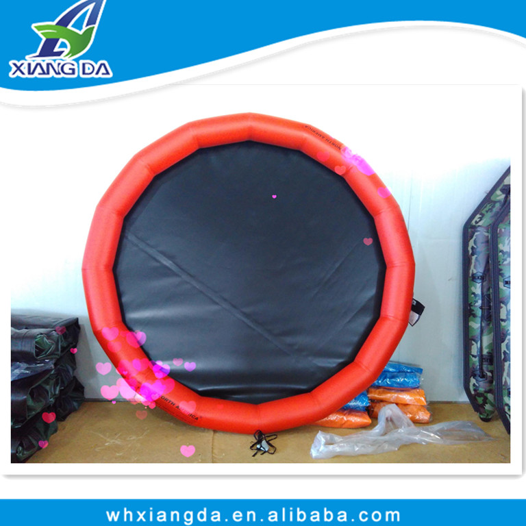 New design floating inflatable boat swimming pool