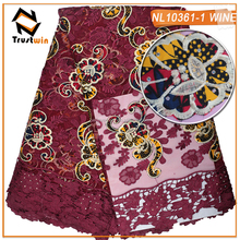 Embroidery African French Net Lace Tulle Laces For Women