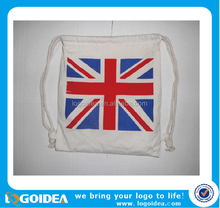 Wholesale custom drawing canvas cloth rope Oxford non-woven bag
