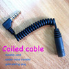 Promotion 3.5mm Male to Female Curly Type Stereo Plug Aux Audio Cable