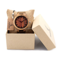 2017 New arrival bamboo wood wrist watch customized japan quartz movement