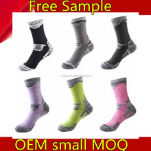 cushioned padding heated cotton moisture wicking no blisters custom ski socks