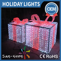 Light Up Outdoor Christmas Decorations 3d Led gift boxes