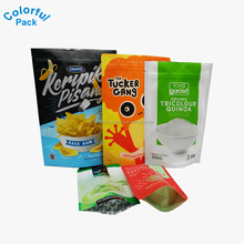 2016 custom printed resealable ziplock plastic pouch doypack bags for food packaging