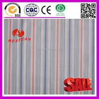 Cotton blue red grey stripe white fabric