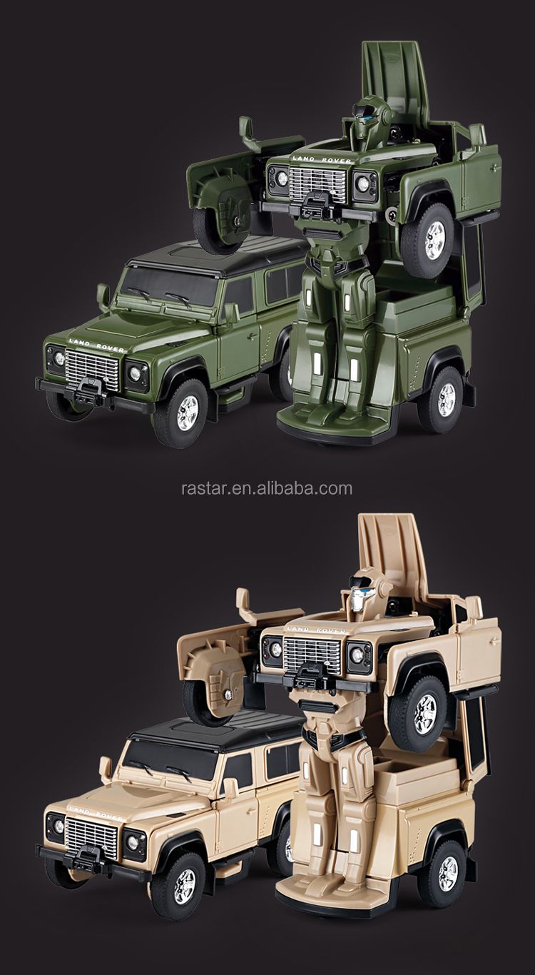 Rastar land rover diecast car model wholesale toy robot man