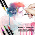 2018 50/40colors new soft flexible tip design watercolor or water color brush marker pen set