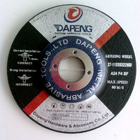 "T27 resin bond 4.5""inch grinding disc cutter for wholesale"