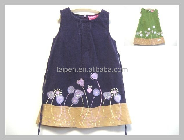 Hot Sale Fashion Deisgn Kids Casual Wear Dresses Washable Baby Girl Cotton Dresses