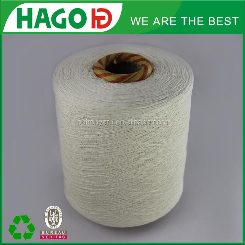 cotton blended yarn for dying, recycled jean yarn for sale