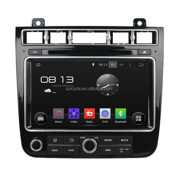 Pure Android 5.1 System Car DVD Head Unit For VW TOUAREG 8 inch 4 Core 1024*600 Bluetooth WIFI DAB+ 16GB