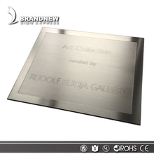 High Quality Outdoor Brushed Stainless Steel Door Plaque With Custom Logo