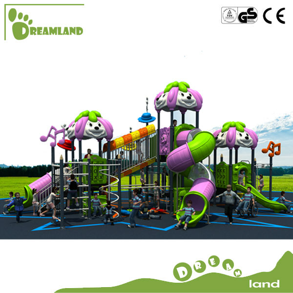 Popular big plastic children outdoor playground big slides for sale